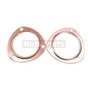 3 Copper Header Exhaust Collector Gasket Reusable Sbc Bbc 302 327 350 454 396