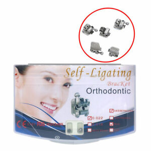 5 Packs Dental Orthodontic Active Self ligating Brackets Roth 022 345 With Tool