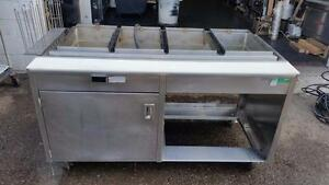 Hot Food Steam Table Commercial Kitchen 62 wide 4 Well 208v 3ph hatco
