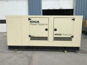 _100 Kw Kohler Generator Sound Attenuated 12 Lead Reconnectable Natural Gas