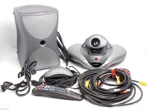 Polycom Vsx 7000 Video Conferencing Camera W Subwoofer Mic Remote Used