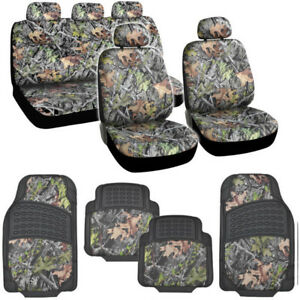 Bdk Hawg Camouflage Seat Covers And Floor Mats For Car And Suv Heavy Duty Rubber