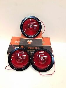 Lot Of 3 Vintage Signal stat 2601 Red Stop Tail Light 1 Wire Nos Free Shipping