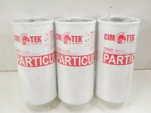 3 Cim tek 70020 30 Micron Particulate High Flow Spin on Fuel Filter 800 300