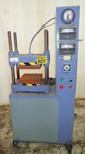 Used Hydraulic Press Wabash 50 Ton Rubber Molding Electric Heat Platen Press