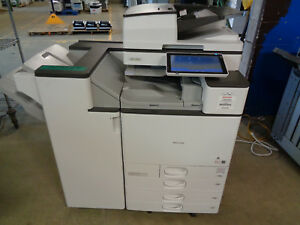 Ricoh Mp C6004 Color Copier W Sr3230 Finisher Total Meter 307k Ct