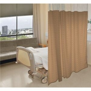 Anti microbial Hospital Cubicle Curtains 72 w X 90 l Pattern Basketweave A m