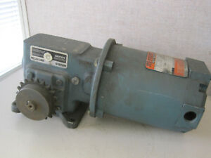 Reliance Electric Ac Motor P56h3002r zu With Dodge Gear Reducer Pro2832