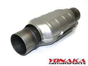 3 0 3 Inlet outlet Yonaka High Flow Universal Catalytic Converter Ceramic Core