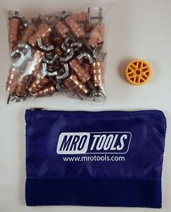 50 1 8 Standard Wing nut Cleco Fasteners W Hbht Tool Carry Bag Kwn1s50 1 8