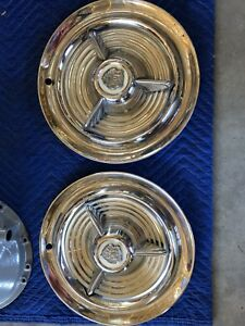 No Reserve 1953 1954 1955 Oldsmobile Fiesta Spinner 15 Hubcaps Hot Rod Rat Rod