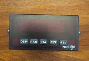 Red Lion Paxt0000 Temperature Panel Meter With Paxcds10 Relay Card