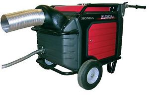 Honda Eu7000is Generator Exhaust System Directs Exhaust Air Outside Enclosure