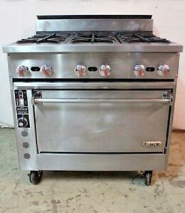 Jade Range Jsr 6 36c Gas 6 Burner Stove W Convection Oven