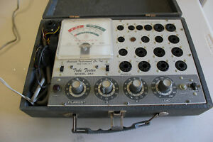 Vintage Accurate Instruments Model 257 Tube Tester tested 6ak5 Passed No Manual