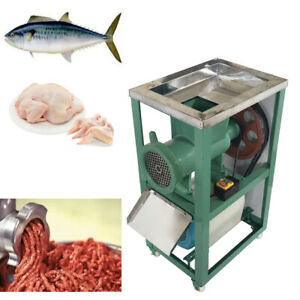Electric Fish Chicken Bones Crusher Meat Grinder Feed Machinery With Wheel 220v