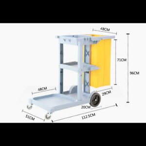Janitorial Cleaning Cart Rolling Janitor Ultility Cart With 3 Shelves