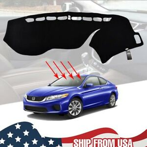 Dashmat For Honda Accord 2013 2017 2016 Dash Mat Dashboard Cover Carpet Black