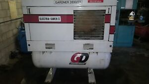 Gardner Denver 15 Hp Rotary Screw Air Compressor 230 460 Volts Model Ebe99m