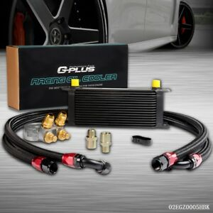 Gplus For Car truck 16 Row Thermostat Adaptor Engine Racing Oil Cooler Kit