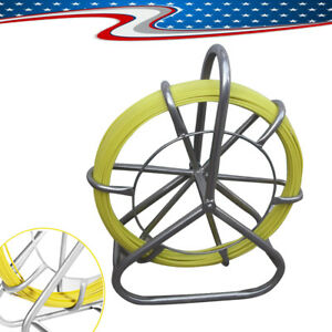 Fish Tape Fiberglass Wire Cable Running Rod Duct Rodder Fishtape Puller 6mm Top