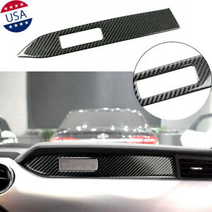 Carbon Fiber Interior Center Console Panel Decal Trim For 2015 2018 Mustang