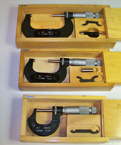 Lot Of 3 Kli Micrometers 0 3 Inches