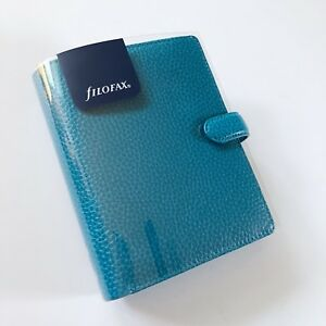 Filofax Finsbury Aqua Pocket Organizer Planner Leather