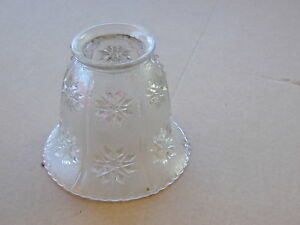 Vtg Pressed Glass Lamp Shade Clear