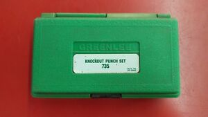 Greenlee Ball Bearing Knockout Punch Set 735bb