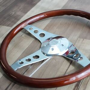 18 Inch Wooden Steering Wheel 3 spoke freightliner Kenworth Peterbilt Volvo