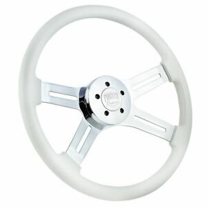 18 Chrome White Yellow Steering Wheel Freightliner Kenworth Peterbilt Mack