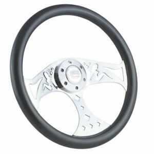 380mm Chrome Gray Mudflap Steering Wheel Wood Grip 15 6 Hole Chevy Gmc C10