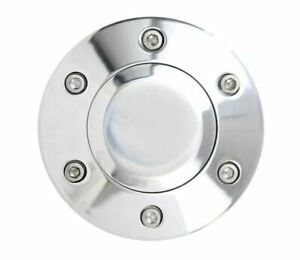 6 Hole Horn Button Polished For Aftermarket Steering Wheels Like Nrg Momo Fs