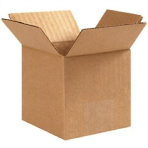 Cube Boxes 4 X 4 X 4 100 lot Corrugated Cartons