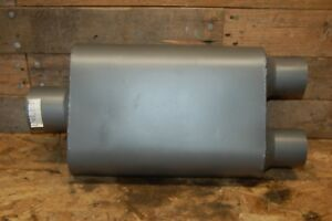 Universal 3 Inch In 2 5 Dual Out Custom Exhaust Oval Welded Muffler