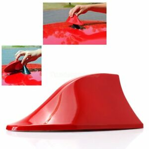 Shark Fin Roof Antenna Aerial Fm Am Radio Signal Decoration Car Red Replacement