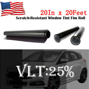 Uncut Window Tint Roll 25 Vlt 20 20 Ft Feet Home Commercial Office Auto Film