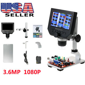 600x4 3 Lcd 3 6mp Electronic Digital Video Microscope For Mobile Phone Us Stock