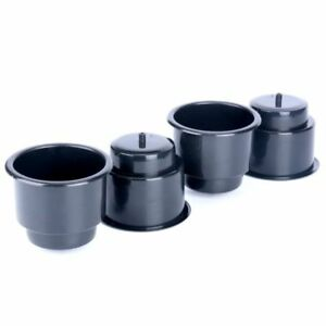 100 Pcs Cup Drink Holder Black Drop In Plastic Recessed With Drain
