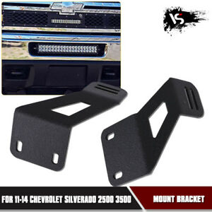 20 Led Light Bar Hidden Bumper Brackets For 11 14 Chevrolet Silverado 2500 3500