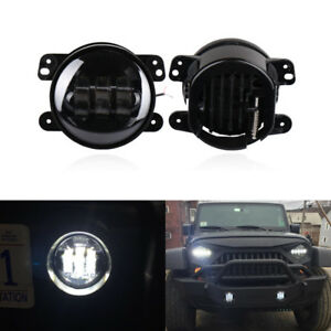 4 Inch Round Cree Fog Light Driving Led Lamp For 07 17 Jeep Wrangler Jk Cj Tj