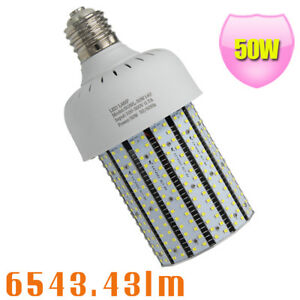 480v 50w Led Corn Cob Bulb 5000k Replace 175w Mercury Vapor Parking Lot E39 347v