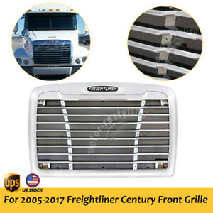 For 05 17 Freightliner Century Front Grille W bugscreen Truck Grill Chrome Style