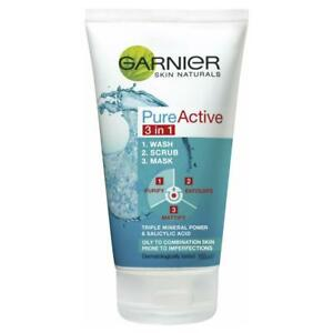 Garnier Pure Cleansing 3 in 1 Wash Scrub & Mask