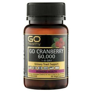 GO Healthy Cranberry 60000+ 30 Vege Capsules