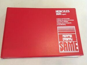 Same Hercules 60 Export Tractor Parts Catalog