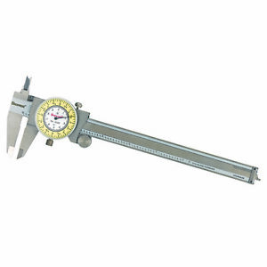 Starrett Stainless Steel White Yellow Dial Caliper 0 6 Fractional Range