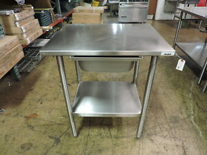 Commercial Stainless Steel Work Table With Drawer And Undershelf 30 X 24