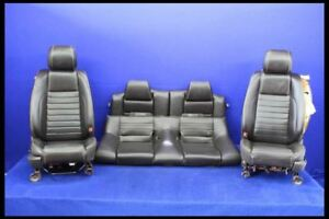 2013 2014 Ford Mustang Gt Full Set Oem Seats Fronts Backs Leather Bucket Coupe